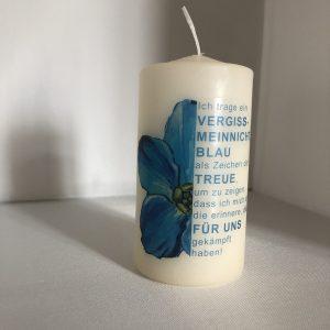 Vergissmeinnicht-Kerze, mittel (11,5cm Höhe, 6cm Durchmesser)