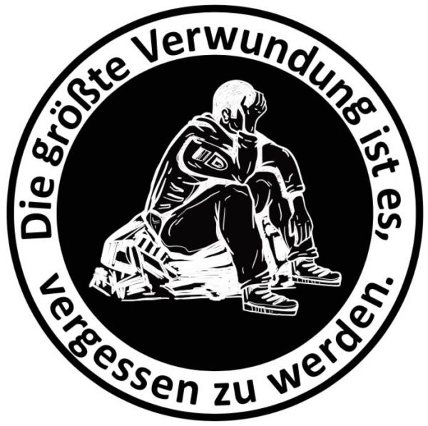 Coin für Einsatzveteranen (und Unterstützer) - Vergissmeinnicht